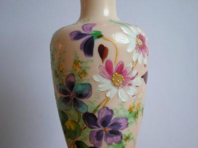 Skleněná malovaná váza