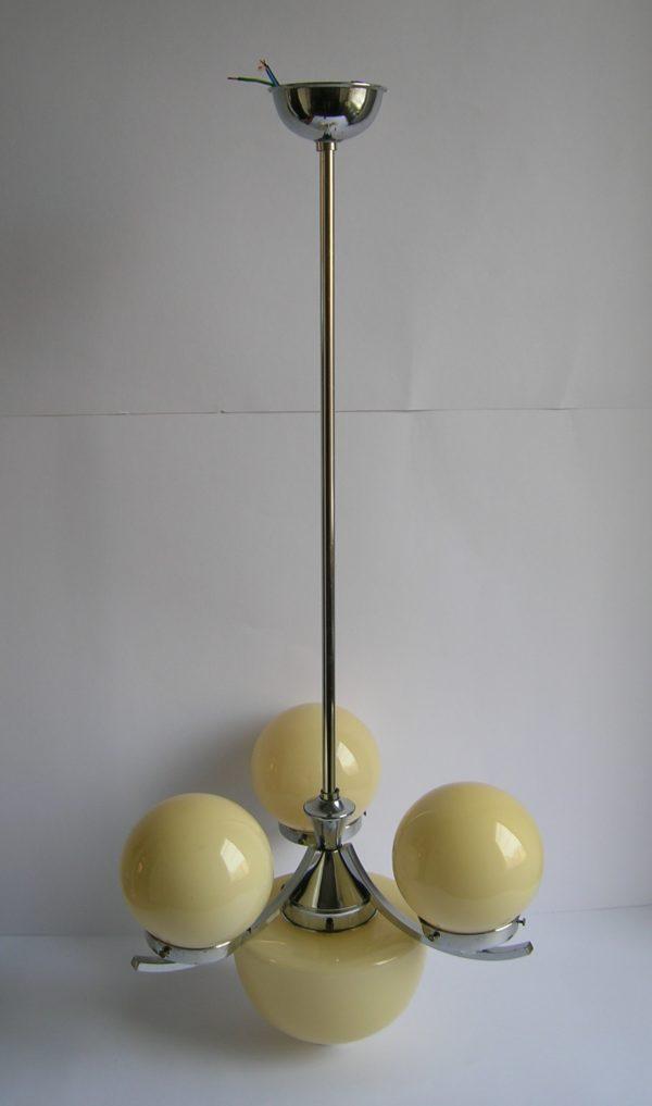 Tříramenný chromovaný lustr