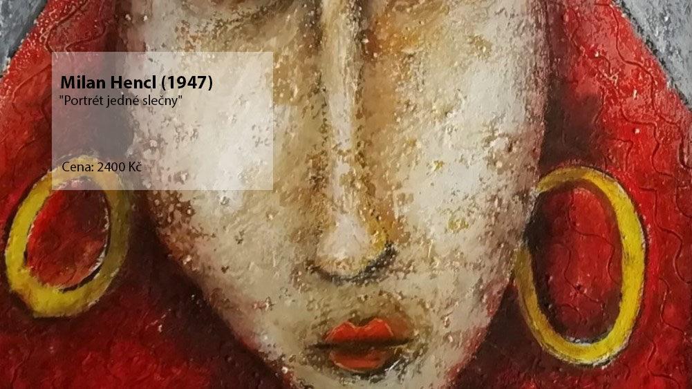 obraz Milan Hencl - Portrét jedné slečny