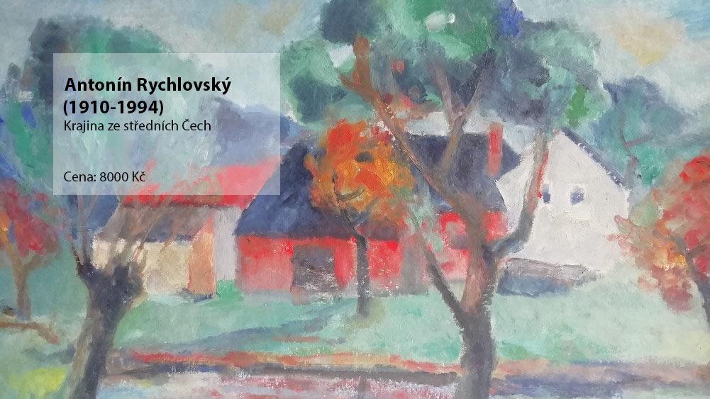 obraz Antonín Rychlovský: Krajina ze středních Čech