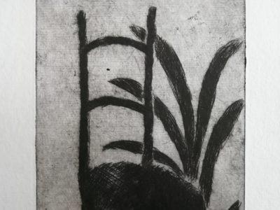 V. Komárek: Židle a rostlina