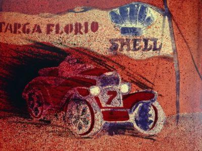 S. Kulda: Targa Florio litografie
