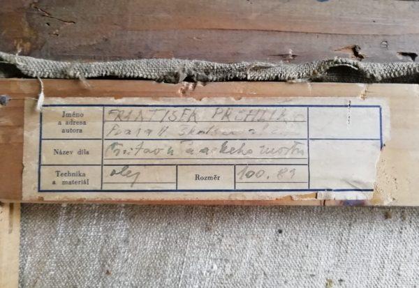 F. Prchlík obraz Přístav u Jiráskova mostu