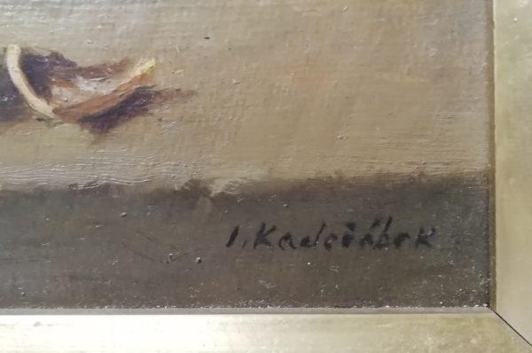 J. Kadeřábek obraz Zátiší s hroznem a ořechem