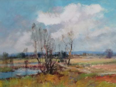 J. Vondráček obraz Podzimní krajina s rybníčkem