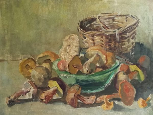 Emil Tylš obraz Košík s houbami