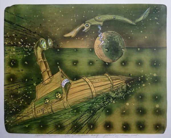 S. Kulda Ponorka ateliér litografie