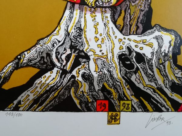 Josef Liesler Strom litografie
