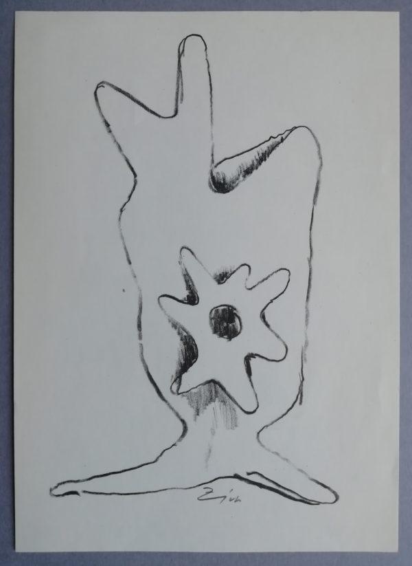 L. Zívr Sochařská studie - kresba