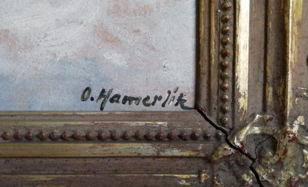 O. Hamerlík obraz Trosky v zimě