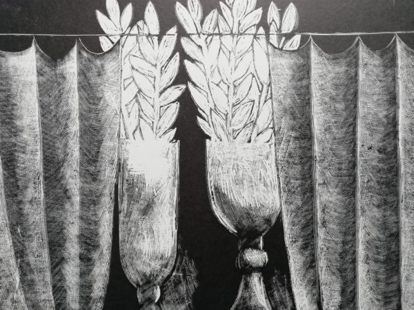 V. Komárek Vavříny dřevoryt