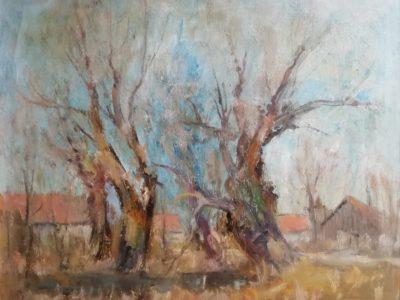 J. Vondráček obraz Stromy na podzim