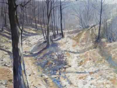 M. Netík obraz Podzim v lese